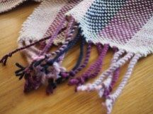 woven scarf details