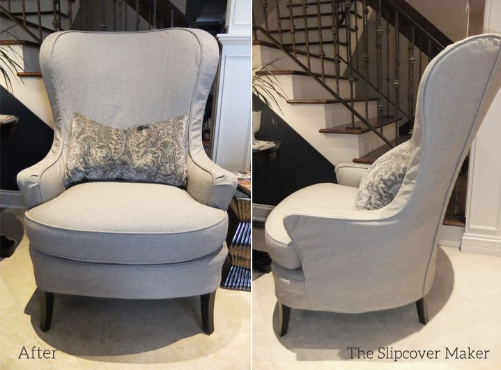 My Customeru0027s Pair Of Arhaus Portsmouth Chairs Now Have More Than One Look  Thanks To Seasonal Slipcovers. During The Fall And Winter Months The Grey  Velvety ...