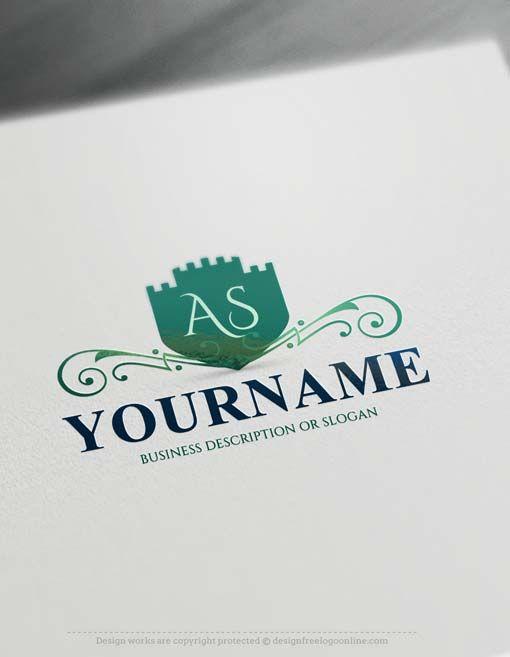 Design Your Own Vintage Castle Logo Design   Typography