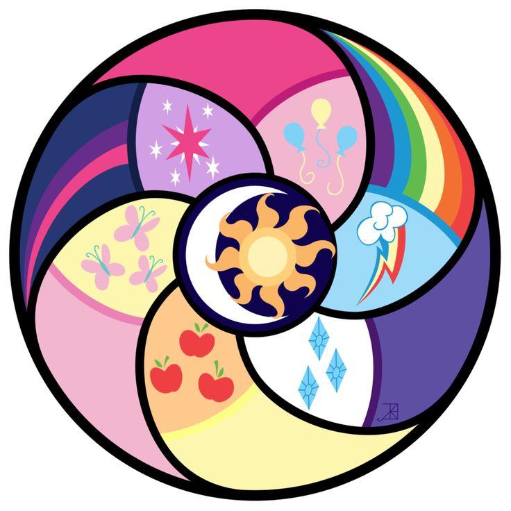 Elements of Harmony Circle -vector- by Akili-Amethyst.deviantart.com on @deviantART
