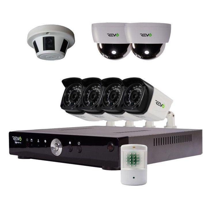 Revo Advanced Aero HD 1080p 8 Ch. Video Security System with 8 Cameras #RevoAmerica