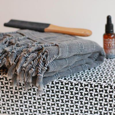Hamam handduk Dusty Grey - Kelimboots, ikat kuddar, hamam handdukar - urban ethnic fashion & interior