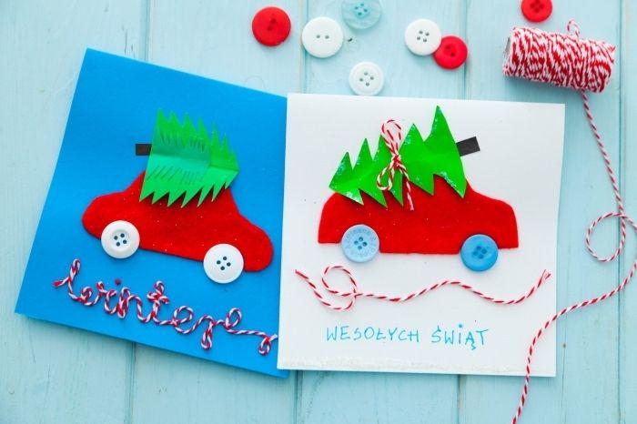 modele carte de noel ▷ 1001 + tutos et modèles de carte de Noël à fabriquer   Crafts