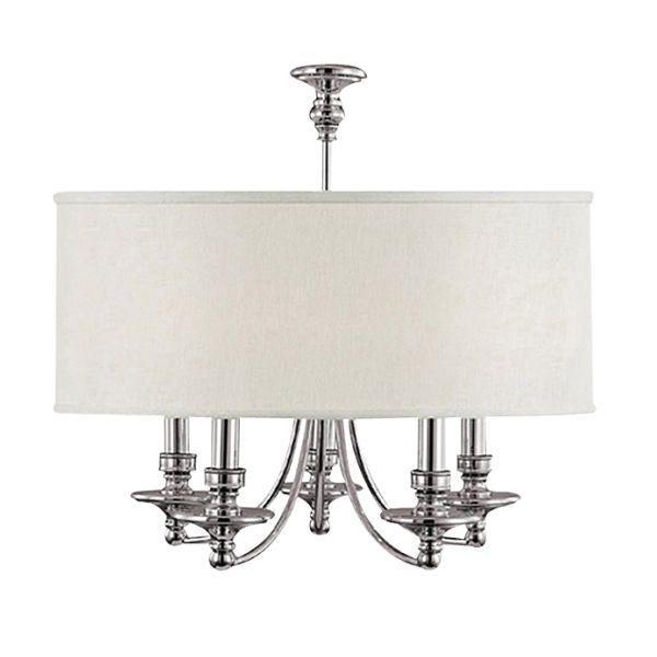 Lampa wisząca EVO P05406WH abażurowa OPRAWA świecznikowa ZWIS na łańcuchu biała