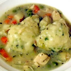 Chicken Stew with Dumplings Allrecipes.com - My go-to recipe for chicken or turkey :)