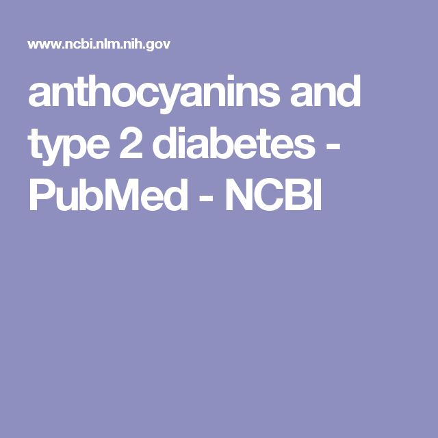 anthocyanins and type 2 diabetes - PubMed - NCBI