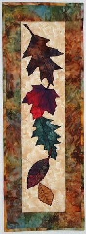 Falling Leaves - Quilts 'n Stuff by Glenna - this looks like it would make a good hanging