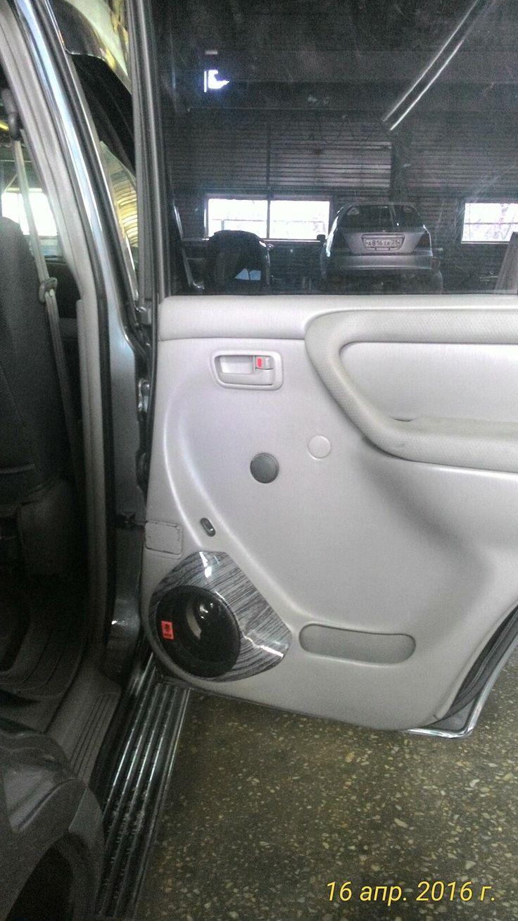 Вкладыши на крузак 105, в задние двери, там да же отверстий не было под динамики, ну и шумка дверей заодно