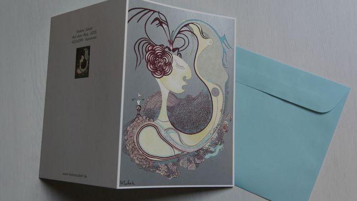 Kunst-druck-Karte Din A5 Sonderdruck Handsigniert Postkarte Faltkarte H.Sobek