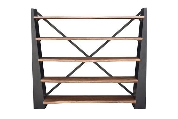 Bookcase Moes Home Collection Lx 1065 24 Murdoch Industrial Modern Display Shelf Natural Wood Iron Only 1 799 00 At Display Shelves Wood Display Shelves