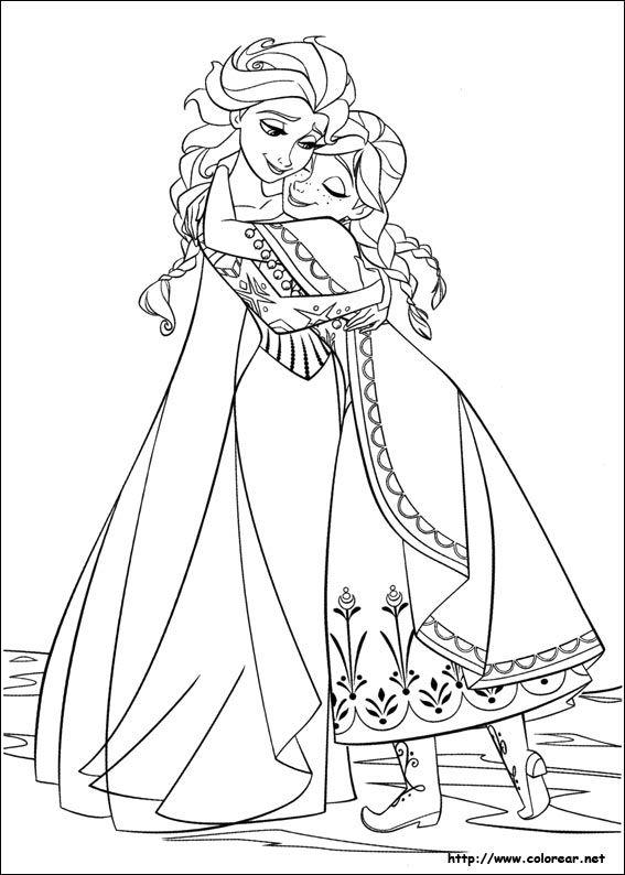 Ana Y Elsa Para Colorear