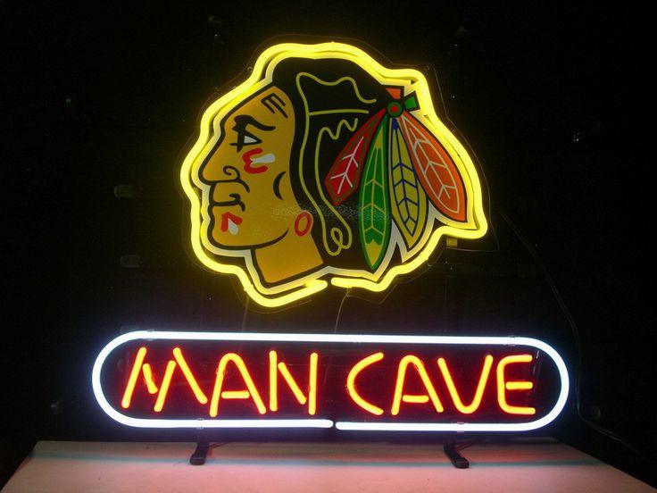 NHL Chicago Blackhawks Man Cave Neon Bar/Pub Display Sign