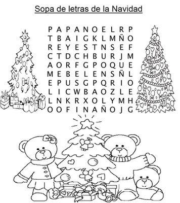 Sopa de letras navidad fiestas de fin de a o - Sopa de letras de navidad ...