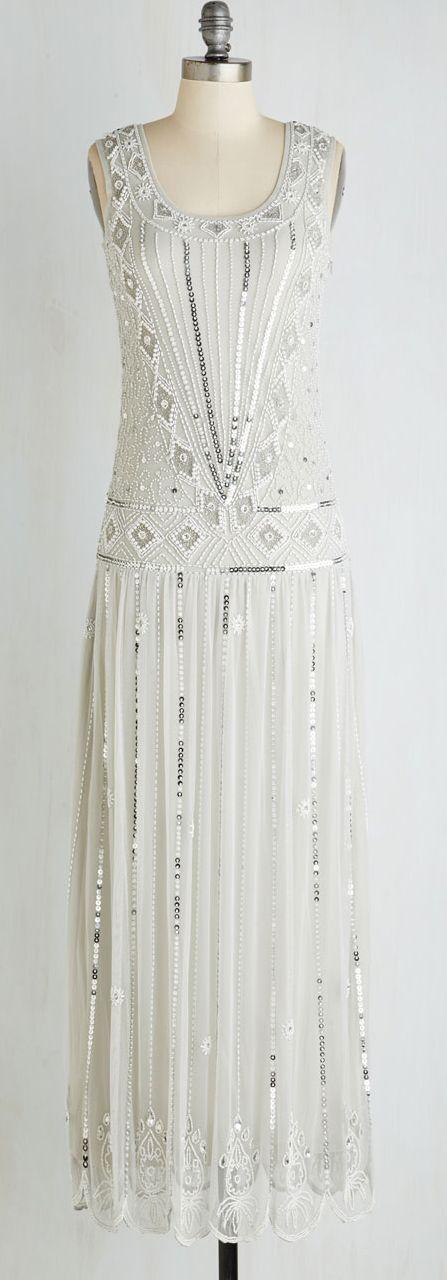 retro beaded gown
