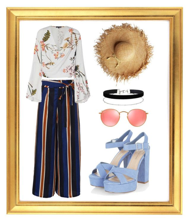 SUMMER IS NOW by tessarah-sagala on Polyvore featuring polyvore fashion style Miss Selfridge Ray-Ban clothing