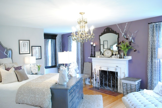 Nice Master Navy Blue Instead Of A Lavender Colored Wall And Accent Colors The Future