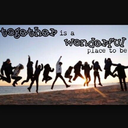 """QOTD :""""Together is a wonderful place to be"""" Pic :EXO"""