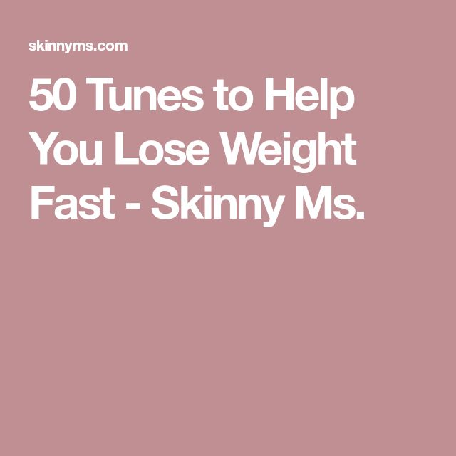 50 Tunes to Help You Lose Weight Fast - Skinny Ms.