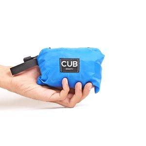 CUB TRAVELER Hobo Nylon Bag Blue Turkish (folded side), #bags #minirucksack #outdoor #slingbag #products #traveling #traveler #urbantraveling #travelgear #hobo #nylon #apparel #holiday #vacation #dailypack
