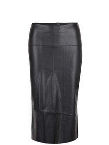Obrázek Černá koženková midi sukně s rozparkem Dorothy Perkins