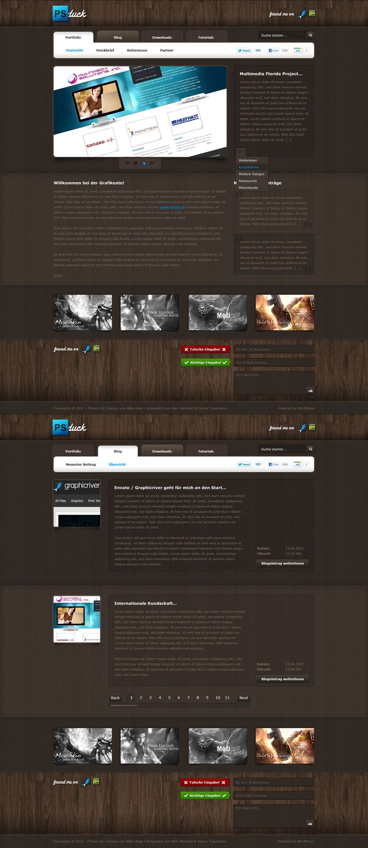 PSduck Project  by *mike-hege  #webdesign