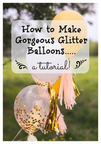 Boutique look, Pinterest worthy- gorgeous glitter confetti balloons. Let us show you how to make confetti balloons with our easy tutorial, tips and tricks! TwigsandTwirls.com
