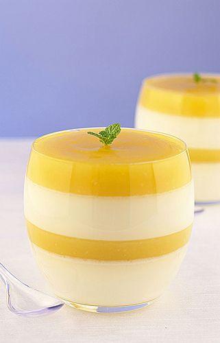 Lemon Curd Panna Cotta...