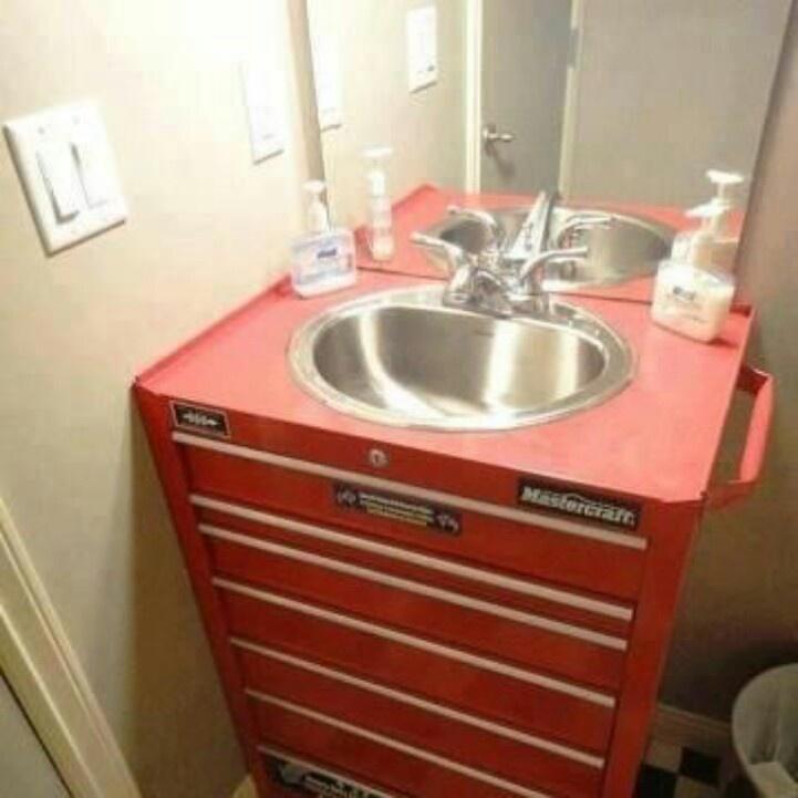 Toolbox Sink, Awesome Shop Idea Or Man Cave Idea   Love For The Boysu0027  Bathroom!