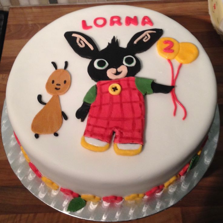 Bing and flop birthday cake