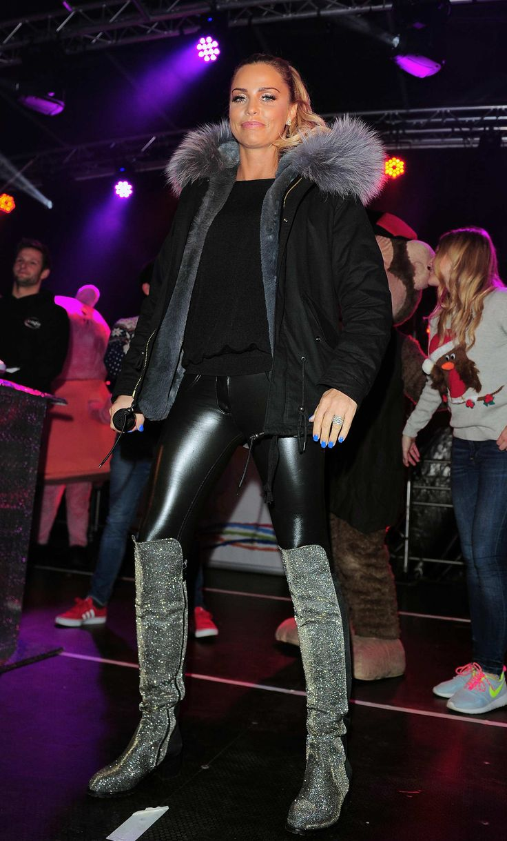 Katie Price switches on the Woking Shopping Christmas Lights