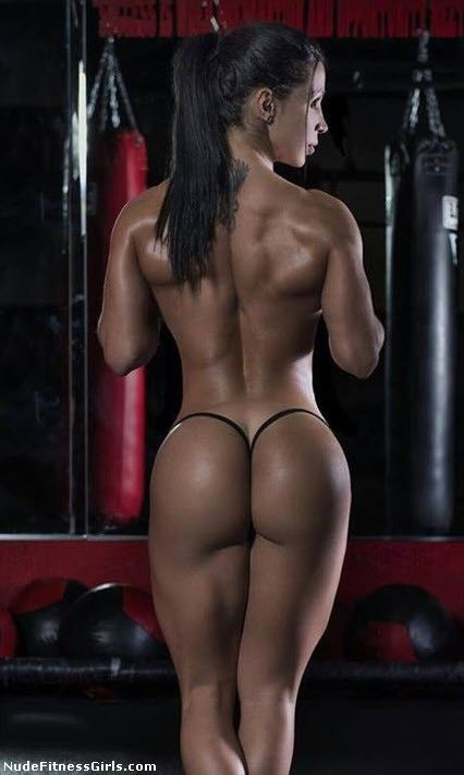 naked hot fitness babe