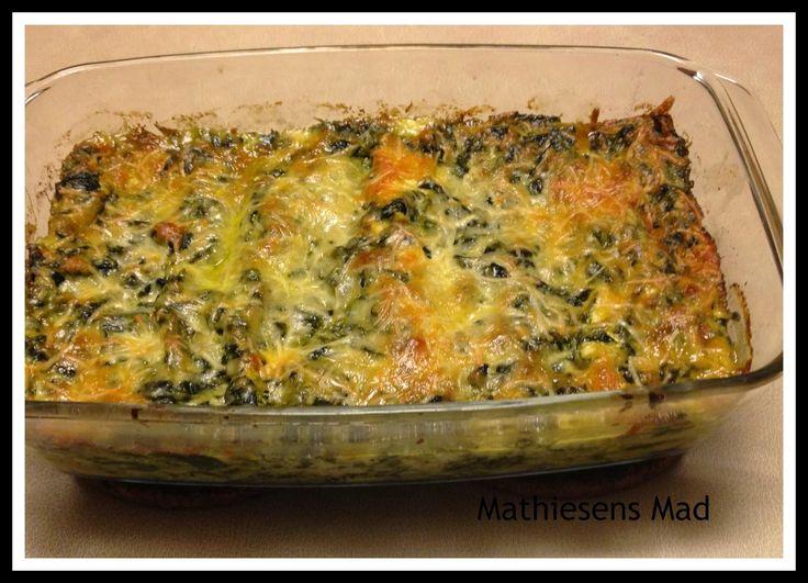Lakselasagne med spinat