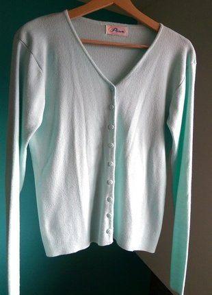 Kup mój przedmiot na #vintedpl http://www.vinted.pl/damska-odziez/kardigany/17289805-sweter-kardigan-krotki-w-kolorze-mietowym