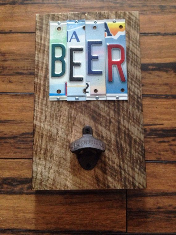 BEER OPENER POPPER License Plate Sign by NaliDesignbyAllison