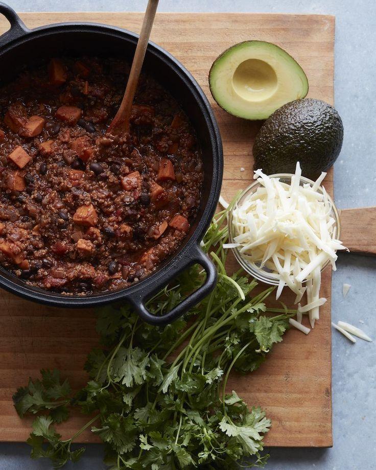 Black Bean Sweet Potato Chili from www.whatsgabycooking.com (@whatsgabycookin)