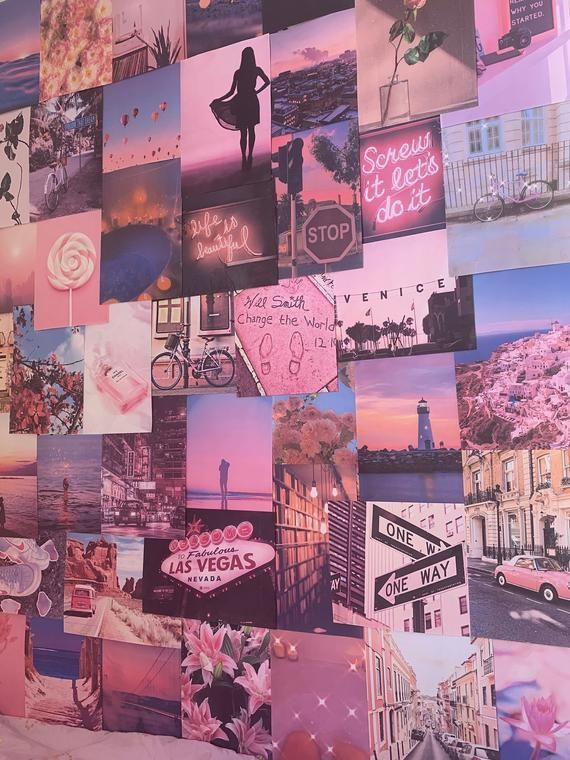 Pink Aesthetic Pretty Retro Wall Collage Kit Vsco Vintage Room Decor Large Size Prints Photos Pictures In 2020 Vintage Room Decor Wall Collage Picture Wall Bedroom