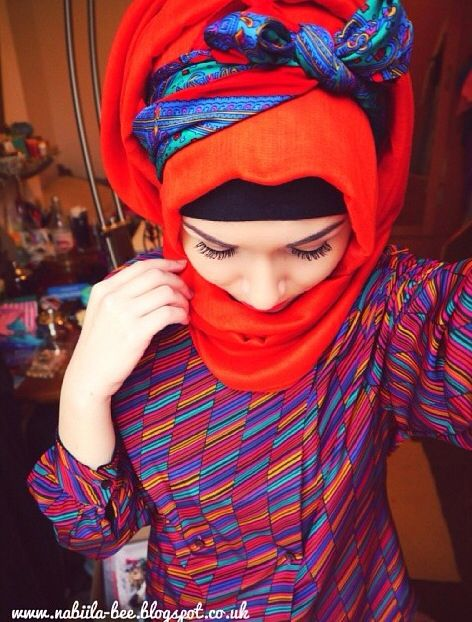 quirky bow #hijab#muslimah
