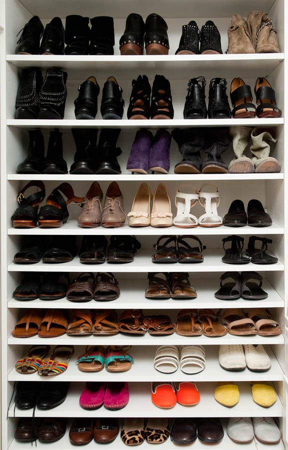 I should probably do something like this so @Lee Byron doesn't kick me out of the house :): New House, Dreams Closet, Shoes Shelves, Shoes Collection, Shoes Organizations, Shoes Storage, Leanne Citron, Shoes Racks, Shoes Closet
