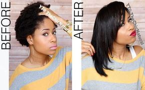 How To Flat Iron High Shrinkage Kinky Hair Without Blow Drying First - http://www.blackhairinformation.com/by-type/natural-hair/flat-iron-high-shrinkage-kinky-hair-without-blow-drying-first/