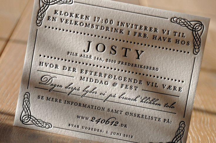 Tag » Einladungskarten Hochzeit « | Letterpress By Letterart (printing  Studio) | Typography | Pinterest | Studios, Tags And Hochzeit