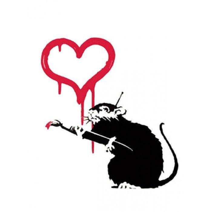 The Banksy Shop - Banksy Canvas Print - Love Rat, £34.95 (http://www.thebanksyshop.co.uk/banksy-canvas-print-love-rat/)