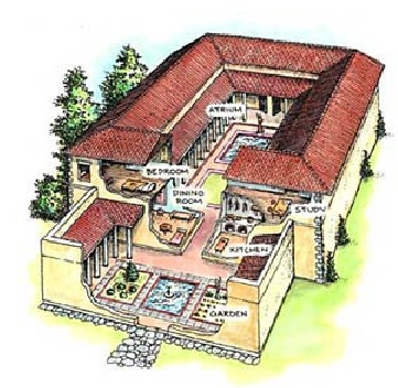 ANCIENT ROMAN HOME: A wealthy Roman citizen Home.
