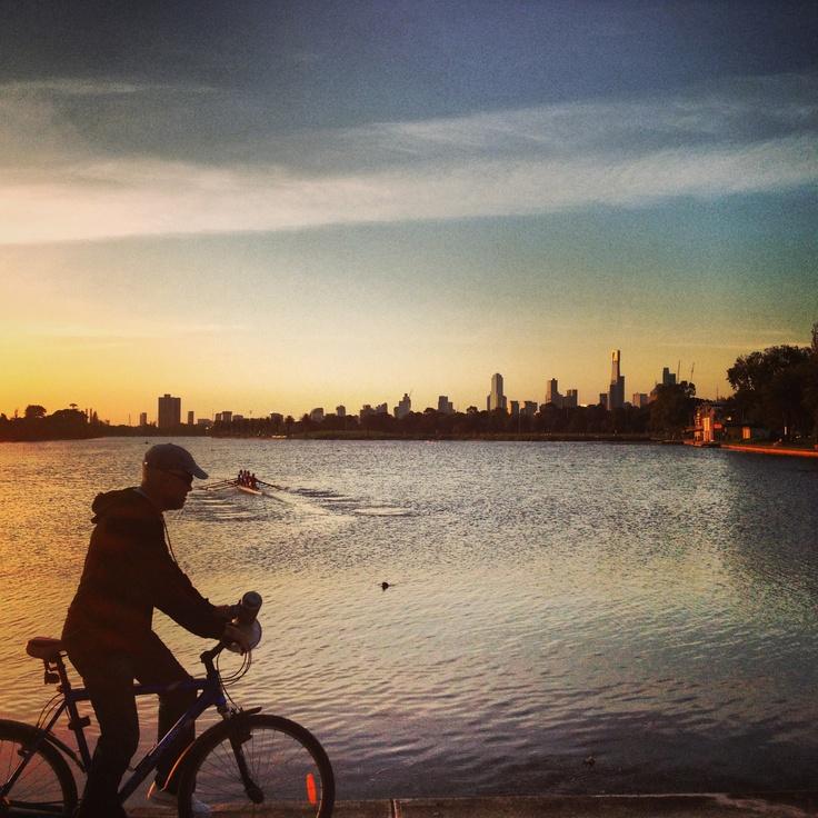 Albert Park Lake Sunset