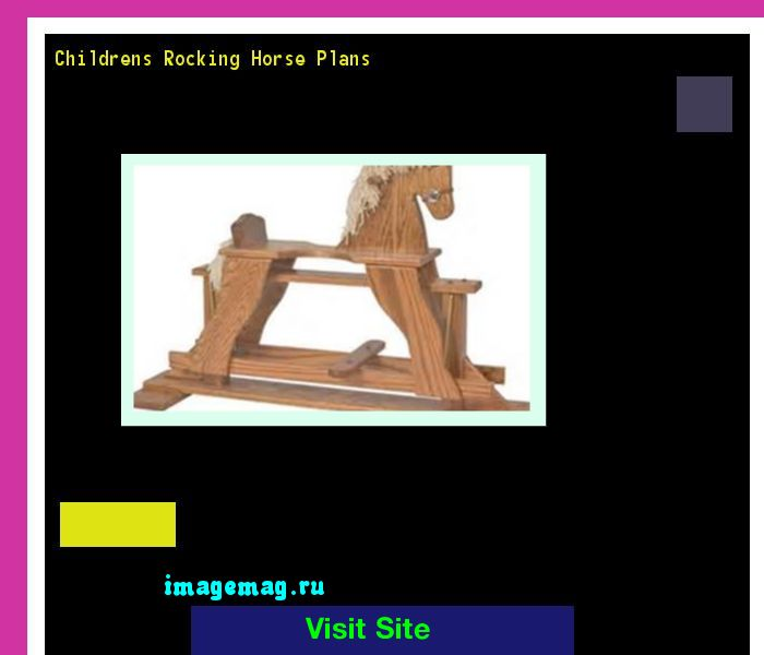 Childrens Rocking Horse Plans 074429 - The Best Image Search