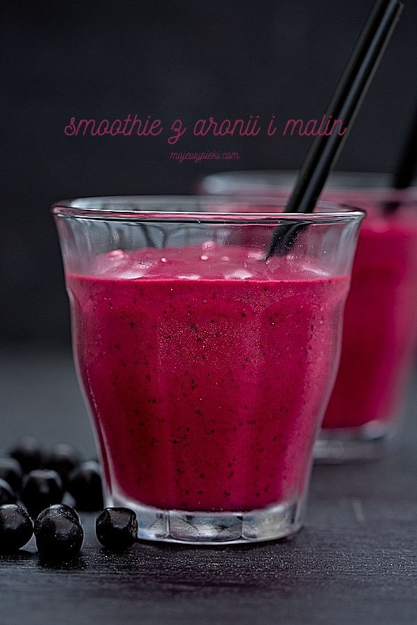 Smoothie z aronii i malin