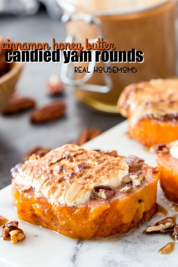 Cinnamon honey butter glazed candied yam rounds practically melt in your mouth and taste like dessert! They're easy to prep ahead and finish off on Thanksgiving making them so simple!  This is a sponsored conversation written by me on behalf of Glad Food Protection. The opinions and text are all mine. My favorite part of …