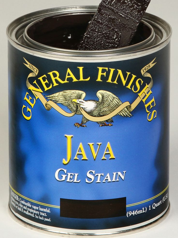 Size: Quart General Finishes gel stain is extremely popular. It is easy to use and can go over furniture and cabinets with just a light sanding. There is no need to go down to completely bare wood and