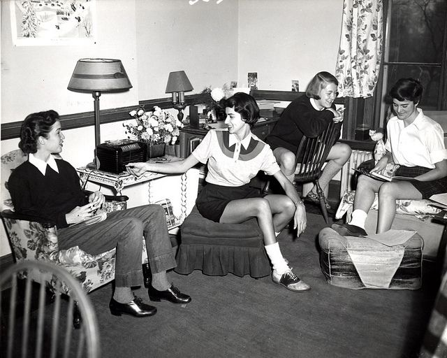 1950s college dorm