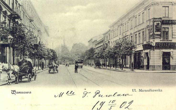 Warszawa Marszałkowska Rzepkowicz Vintage postcard, Alte postkarte aus Warschau, stara pocztówka, Warszawa, Varsovie Carte Postale Ancienne CPA