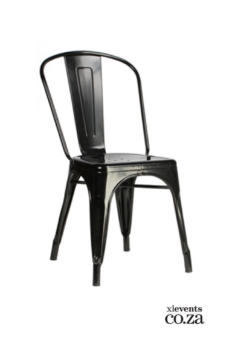 Black Trollip Metal Chair available for hire for your wedding, conference, party or event. Browse our selection of chairs and furniture in our online catelogue.